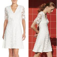 papell lace dress papell lace mesh fit flare dress in my closet