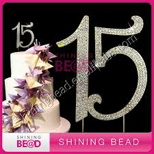 rhinestone cake toppers number 15 rhinestone cake topper for happy birthday cake