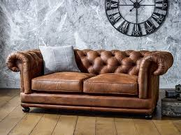 Chesterfield Tufted Leather Sofa Collection In Chesterfield Tufted Leather Sofa Interiorvues