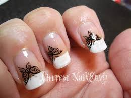 cute french tip nail designs nails and pretty patterns try