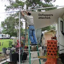 Rv Awning Deflappers March 2016 Three Quarters U0026 Counting