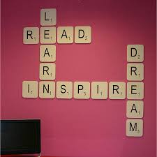 giant scrabble wall letter by copperdot notonthehighstreet com