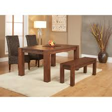 4 piece dining room set modus 4 piece meadow dining table set with bench walmart com