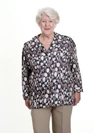 clothing for elderly tops adaptive blouse shirt open back magnetic