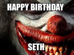 Scary Clown Meme - meme maker happy birthday seth36