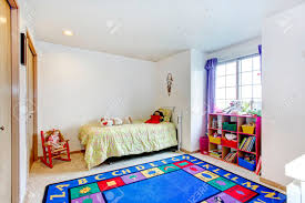 Bright Blue Rug Bright Young Bedroom With Carpet Floor And Blue Rug Rustic
