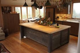 hand crafted rustic kitchen island by atlas stringed instruments