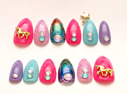 stiletto nails unicorn nail dangling multi color nail nail