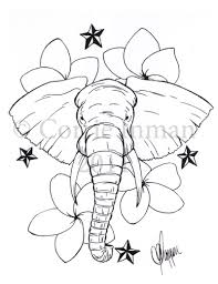 elephant with nautical stars tattoo design tattoos book 65 000