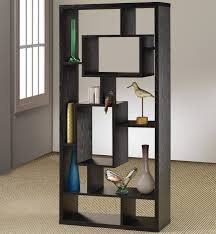 cube room divider black finished asymmetrical shelving unit 15 shelves in various