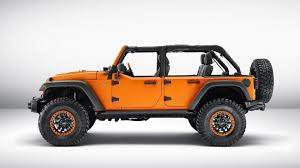 orange jeep jeep cherokee krawler u0026 wrangler rubicon sunriser concepts bow in