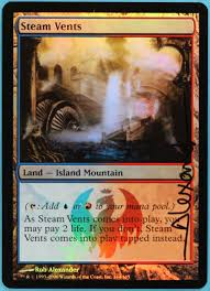 steam vents guildpact foil signed id s3281 signed magic