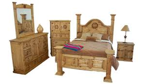 Western Bed Frames Big Sky Bedroom Set Rustic King Western Real Solid Wood