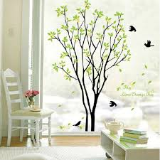 decals decor removable birds sing on the tree wall