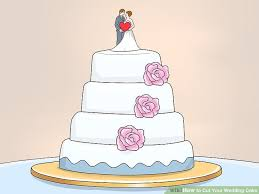 wedding cake outline 3 ways to cut your wedding cake wikihow