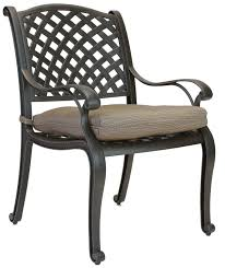 Aluminum Outdoor Patio Furniture by Berkshirepatio Nassau Cast Aluminum Outdoor Patio Dining Chair