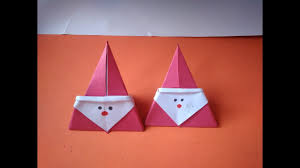diy crafts for christmas cute paper santa claus very easy made