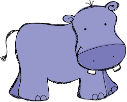 drawn baby animal hippo pencil and in color drawn baby animal hippo