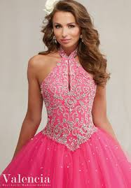 embroidery and beading on a tulle quinceanera dress style 89084