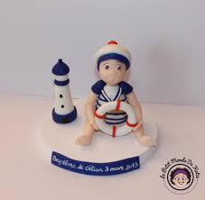 decoration theme marin figurine pièce montée de baptême le petit monde de katie le blog