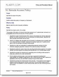 policy manual template free checklists and forms instant download