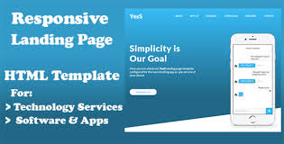 yess responsive html5 landing page template html bootstrap