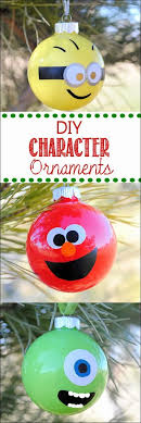 minion elmo and mike wazowski ornaments diy craft projects