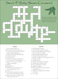 amazing printable baby shower crossword puzzle part 6