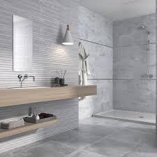 Grey Tiles Atlanta Grey Rectified Edge Ceramic Wall Tile 90x30cm From The