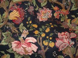 western textile black floral fabric by lornasfrontporch