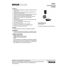 kohler k 99696 na dtv no finish accessories steamroom efaucets com