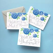 bridesmaid cards will you be my bridesmaid cards watercolor wedding invitations