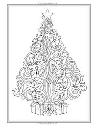 zentangle christmas tree coloring pages coloring