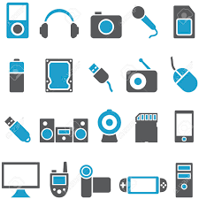 Electronics Gadgets Set Vector Icons Electronics And Gadgets Signs Can Be Used As