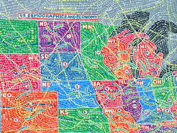 Palo Alto Zip Code Map by Color By Number The Gorgeous Obsessive U S Maps Of Paula Scher