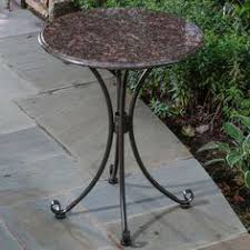 Granite Top Bistro Table Rustic Granite Table Bases Of A Rustic Vanities