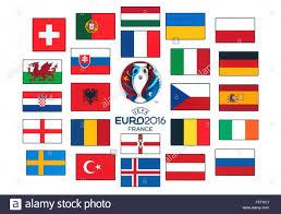 Flags Of European Countries Official Logo Of The 2016 Uefa European Championship In France