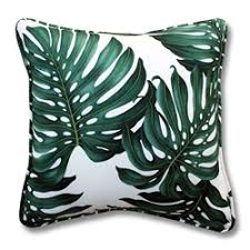 palm tree pillow by designer dean miller
