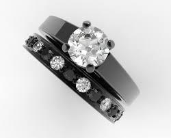 unique wedding ring unique alternating black and white diamond wedding ring set