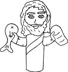 90 coloring pages of fish and bread boy feeds 5000 with