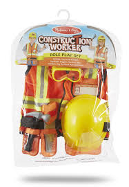 Halloween Gifts For Boys by Amazon Com Melissa U0026 Doug Construction Worker Role Play Costume
