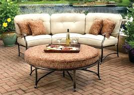 sunset west outdoor furniture sunset west curved wicker sofa
