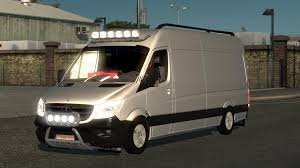 bmw sprinter van mercedes sprinter long 2015 v0 9 beta mod euro truck simulator 2 mods