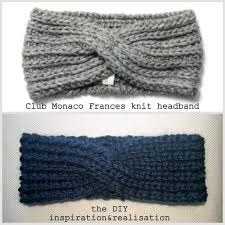 knitted headband pattern inspiration and realisation diy fashion diy sided