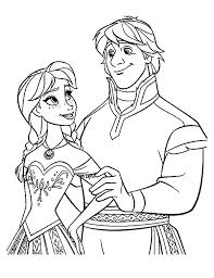 kristoff frozen characters coloring pages kristoff