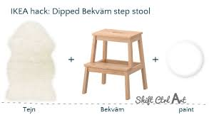 Ikea Stepping Stool Ikea Hack Dipped Bekväm Step Stool With Tejn Faux Sheep