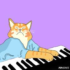Cat Playing Piano Meme - artists on tumblr illustration gif find download on gifer