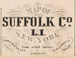 Suffolk County Map Old Map Of Suffolk County Ny Long Island 1858 Wall Map