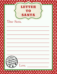 free printable writing paper to santa letter to sants gidiye redformapolitica co