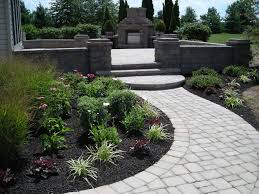 landscape landscaping ideas around patio fascinating gray round